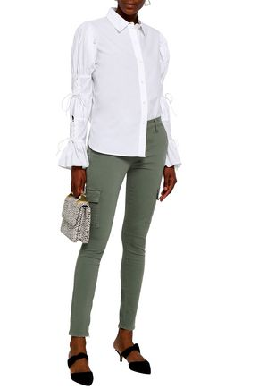 FRAME Cotton-blend twill skinny pants