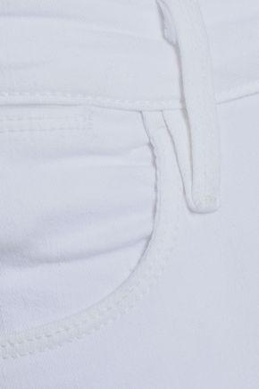 FRAME Frayed high-rise skinny jeans