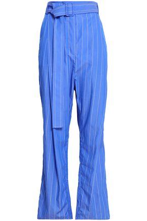 ELLERY Pinstriped cotton-poplin straight-leg pants