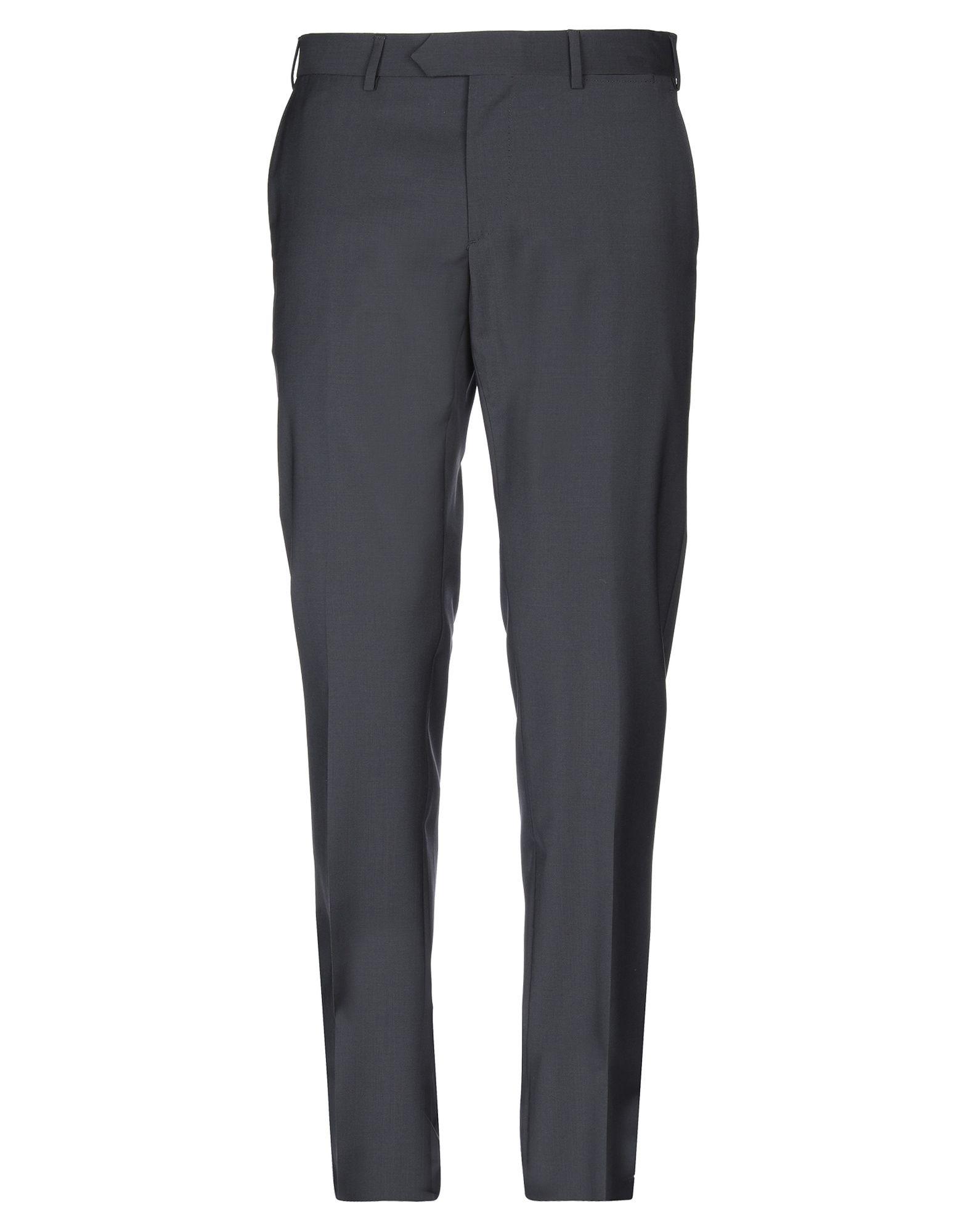 《送料無料》SANTANIELLO Napoli メンズ パンツ スチールグレー 52 ウール 100%