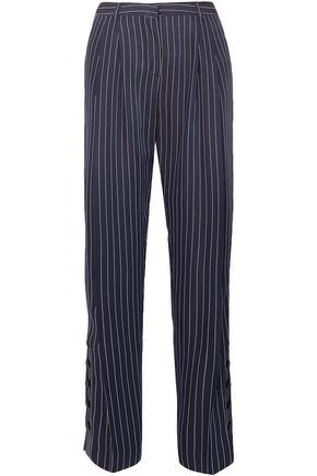 ALTUZARRA Lidig pinstriped ottoman wide-leg pants