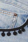 MARC JACOBS Pompom-embellished denim mini skirt