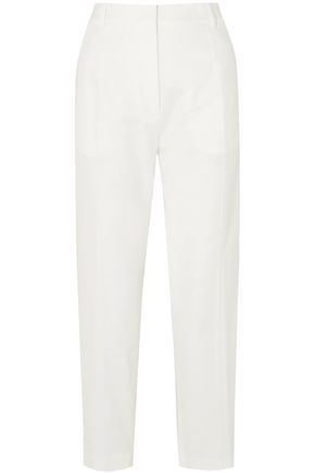 JIL SANDER Cotton-blend twill tapered pants