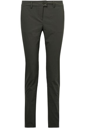 TOMAS MAIER Stretch-cotton poplin skinny pants