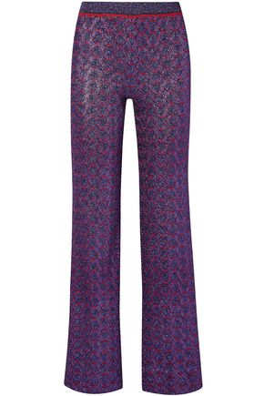 MISSONI Metallic stretch-knit straight-leg pants