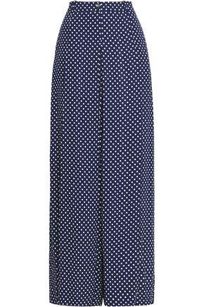 MICHAEL KORS COLLECTION Polka-dot silk wide-leg pants