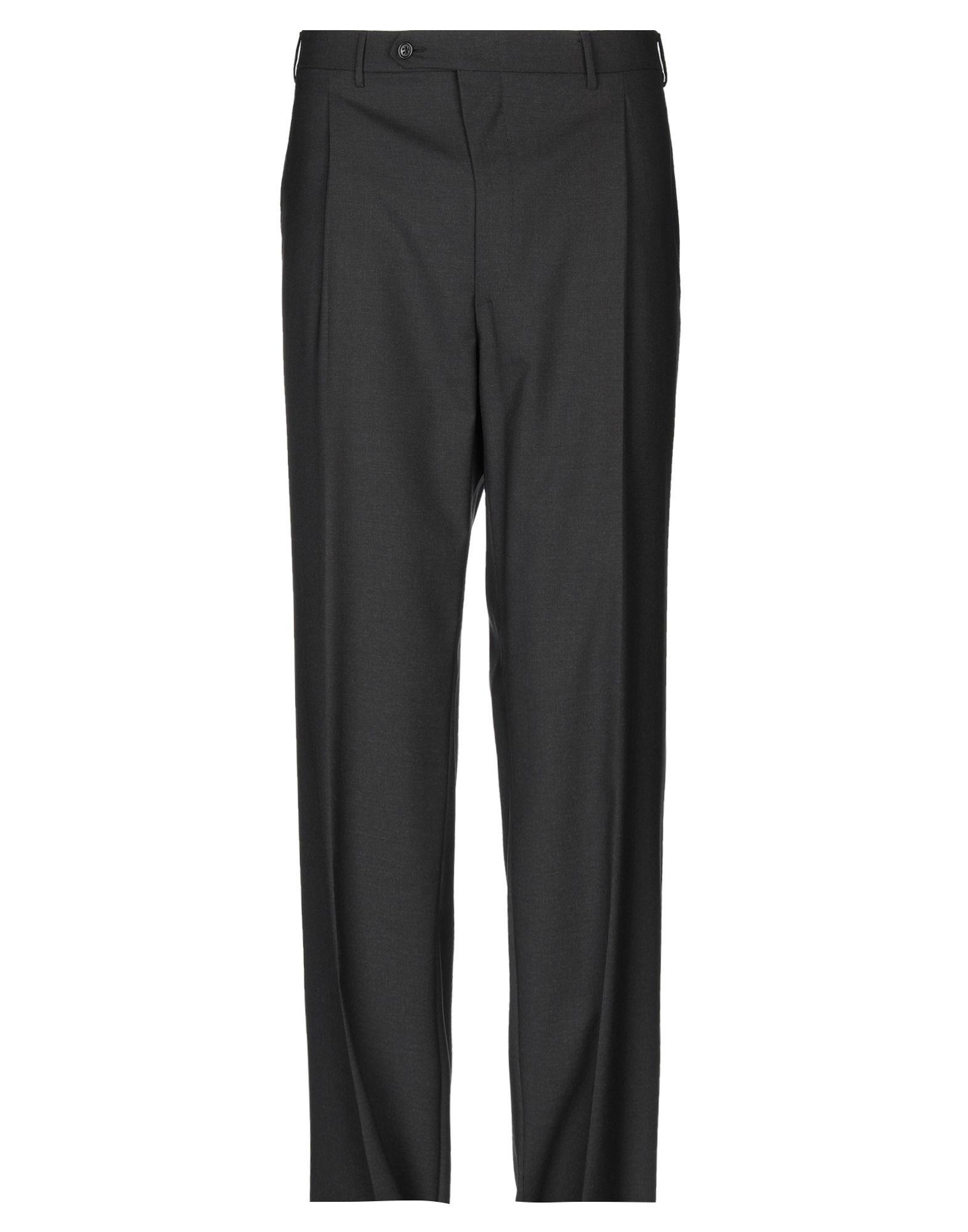 《2万円以上オーダーで送料無料》CANALI メンズ パンツ ブラック 58 バージンウール 100%