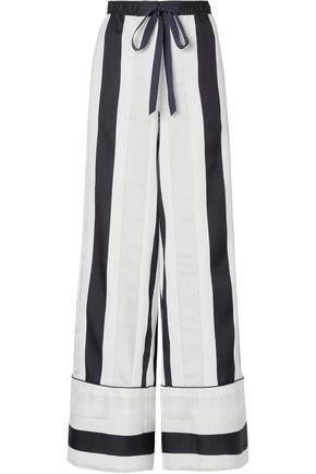 ADAM LIPPES Striped cotton and silk-blend jacquard wide-leg pants