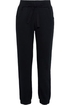 REDValentino French cotton-blend terry track pants