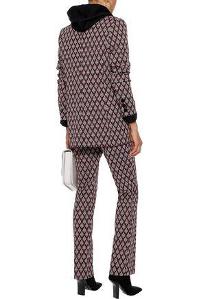 ALEXACHUNG Jacquard-knit straight-leg pants