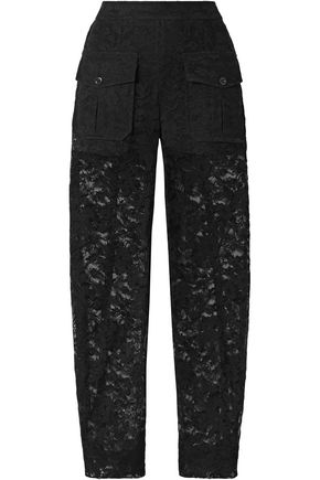 CHLOÉ Cotton-blend lace straight-leg pants