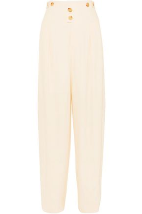 CHLOÉ Pleated cady tapered pants