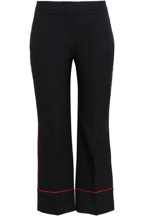 ALEXANDER MCQUEEN Cropped wool-blend straight-leg pants