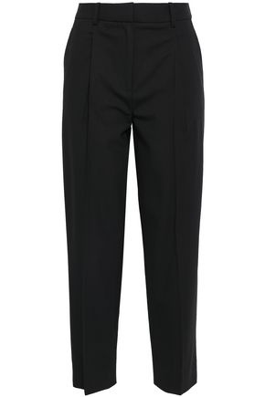 DIANE VON FURSTENBERG Cropped wool tapered pants