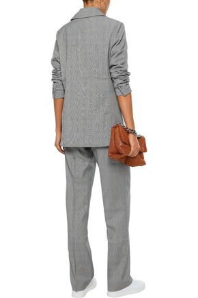 W118 by WALTER BAKER Ingrid pleated checked woven straight-leg pants