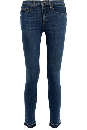 VERONICA BEARD Kate 10 distressed mid-rise skinny jeans