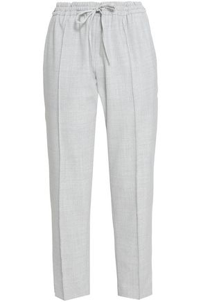 JOSEPH Twill pintucked tapered pants