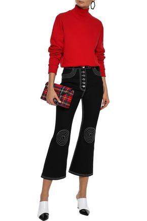 ELLERY Orphism embroidered high-rise kick-flare jeans