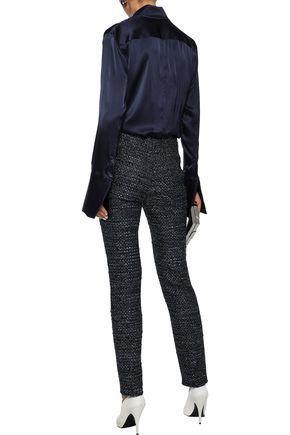 ELLERY Synopsis metallic tweed slim-leg pants