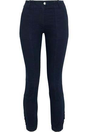 VERONICA BEARD Field cropped modal-blend twill skinny pants