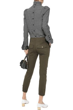 VERONICA BEARD Cropped cotton-blend twill slim-leg pants