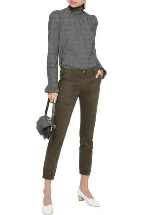 VERONICA BEARD Field cropped cotton-blend twill skinny pants