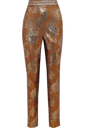 PETER PILOTTO Metallic jacquard slim-leg pants