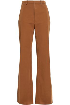 JOSEPH Stretch-cotton twill wide-leg pants