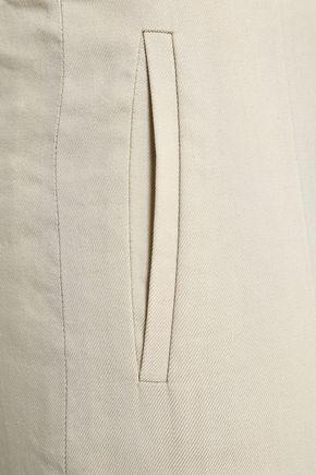 JOSEPH Stretch-twill wide-leg pants