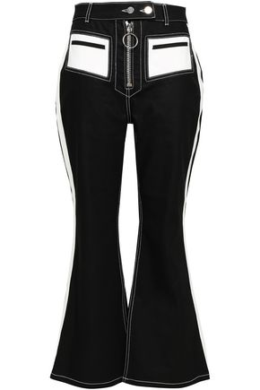 ELLERY Cropped high-rise flared jeans