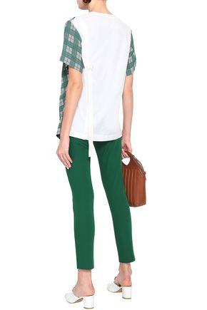 JOSEPH Stretch-cotton twill slim-leg pants