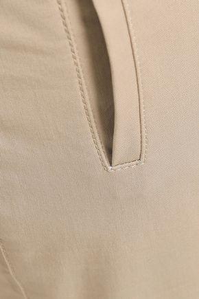 JOSEPH Finley cropped button-detailed stretch-cotton twilll slim-leg pants