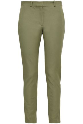 JOSEPH Cropped stretch-gabardine slim-leg pants