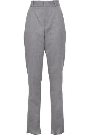 SAINT LAURENT Wool-twill tapered pants