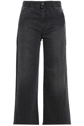 STELLA McCARTNEY Cropped high0-rise wide-leg jeans