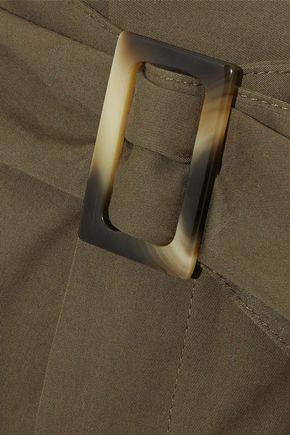 IRIS & INK Callie belted cotton-twill wide-leg pants