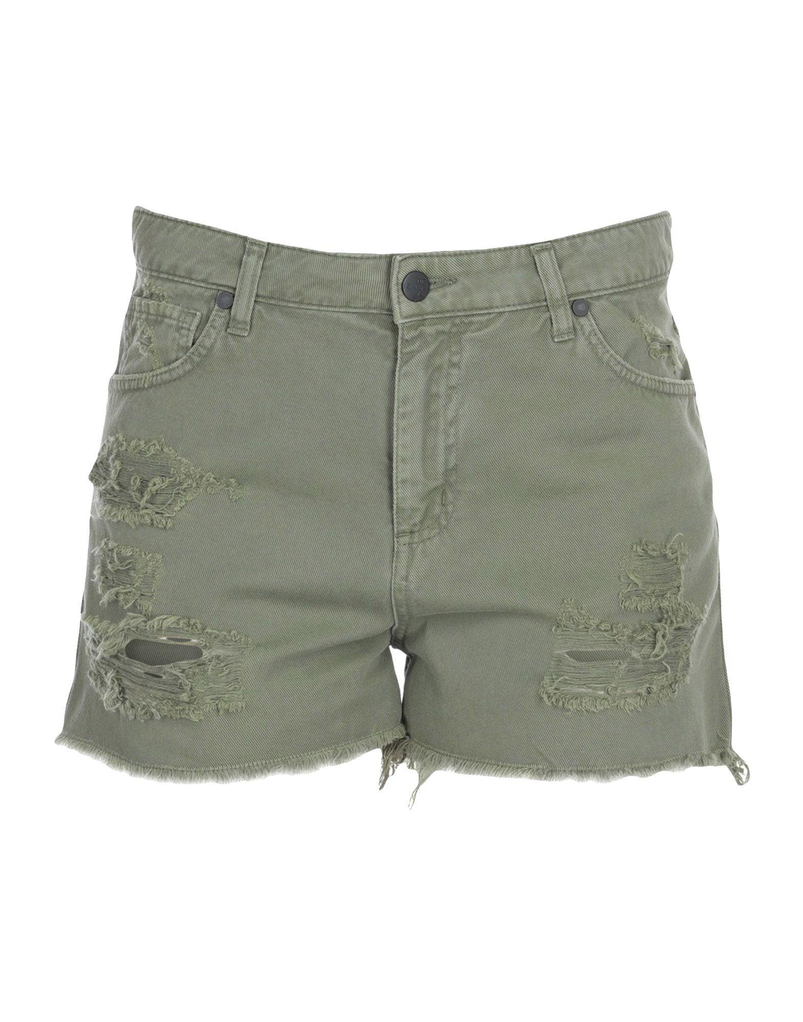 UP ★ JEANS Джинсовые шорты lace up detail jeans
