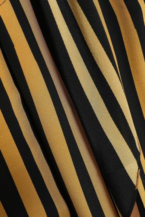 ROCKINS Striped crepe de chine wide-leg pants