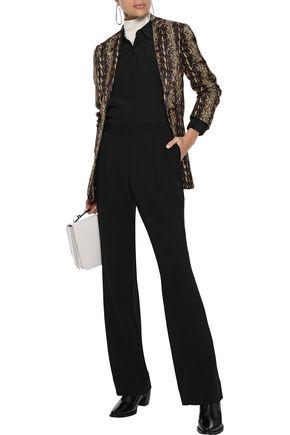 DEREK LAM 10 CROSBY Wool-blend wide-leg pants