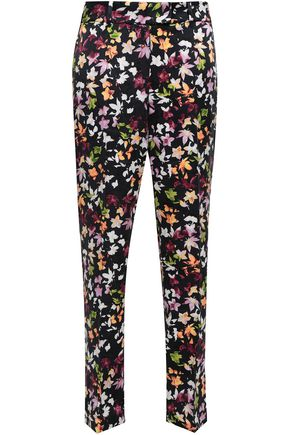 EQUIPMENT Florence floral-print washed-silk straight-leg pants