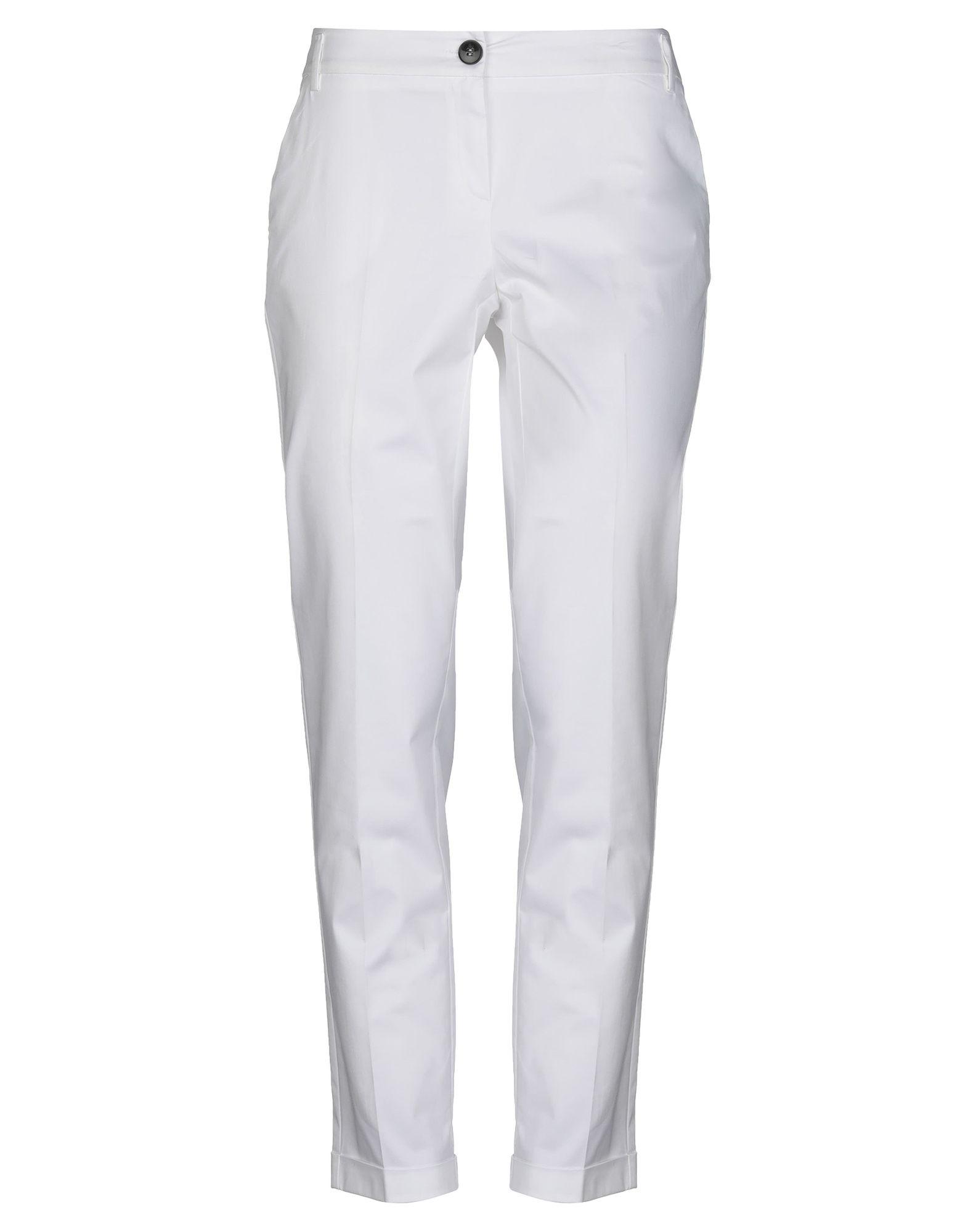 《セール開催中》EMME by MARELLA レディース パンツ ホワイト 42 コットン 98% / ポリウレタン 2%