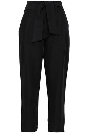 JOIE Jun cotton and linen-blend tapered pants
