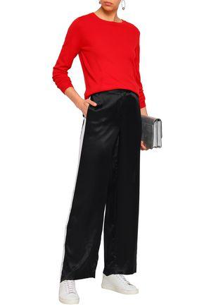EQUIPMENT Button-detailed silk-satin wide-leg pants