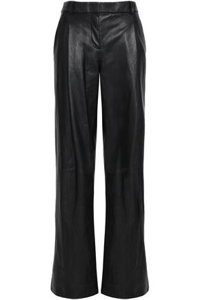 DIANE VON FURSTENBERG Stanton leather wide-leg pants