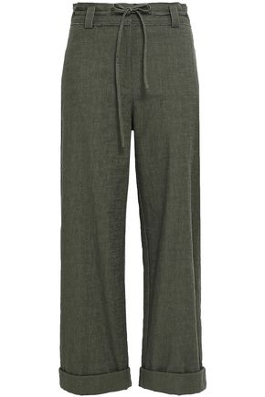 DIANE VON FURSTENBERG Stretch-cotton wide-leg pants