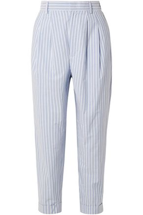 MM6 MAISON MARGIELA Striped cotton-poplin tapered pants