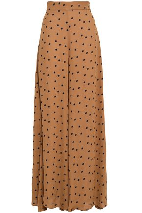 PAPER London Kelly polka-dot crepe wide-leg pants