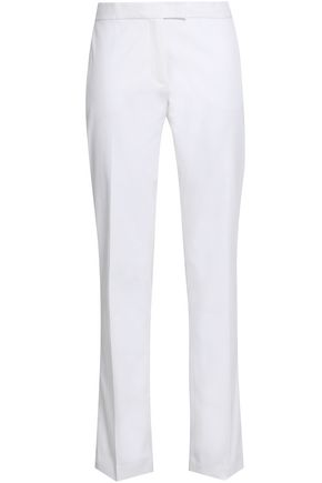 JOSEPH Stretch-cotton twill straight-leg pants