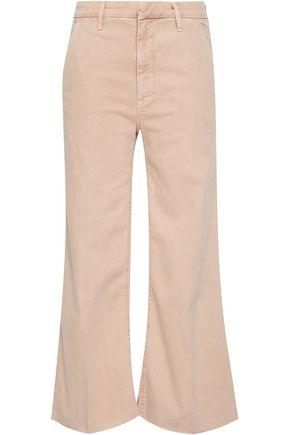 MOTHER Stretch-cotton gabardine kick-flare jeans