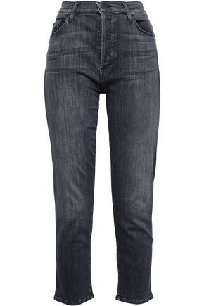 MOTHER High-rise slim-leg jeans
